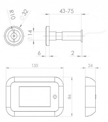 Схема видеоглазка Dozor JY8001
