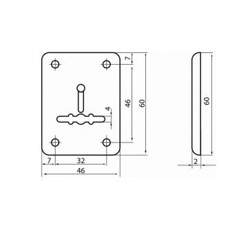 Схема Накладка декоративная (сувальд) S.A.P.Design 202 СR