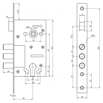Схема Замок основно