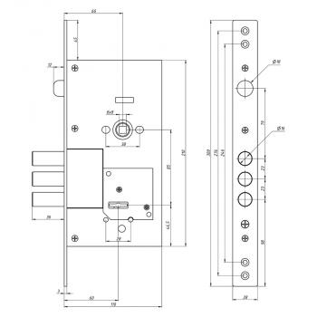 Схема Замок основной сувальдный S. A. P. Design 252 RL