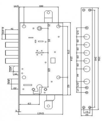 Схема Замок-моноблок S. A. P. Design 54.797 Комбинированный