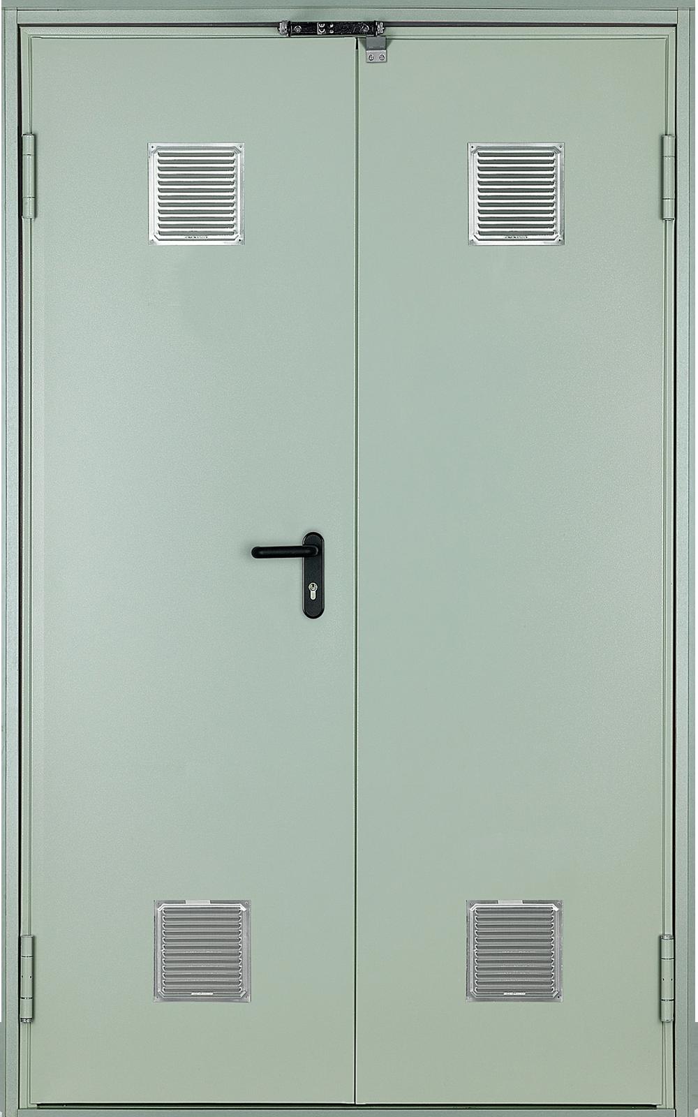 двери металлические двупольные противопожарные технические