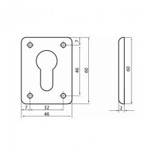 Схема - накладка декоративная (цилиндр) S.A.P.Design 106 СR