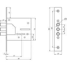 Схема Замок дополнительный сувальдный S. A. P. Design 1082