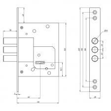 Схема Замок дополнительный сувальдный S. A. P. Design 257
