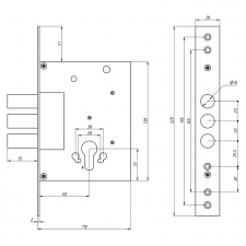 Схема Замок дополнительный цилиндровый S. A. P. Design 257