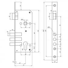 Схема Замок основной цилиндровый S. A. P. Design 2800