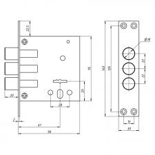 Схема Замок дополнительный сувальдный S. A. P. Design 40.01 (с противоспилом)