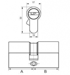 Цилиндры S.A.P. Design Ключ/Ключ