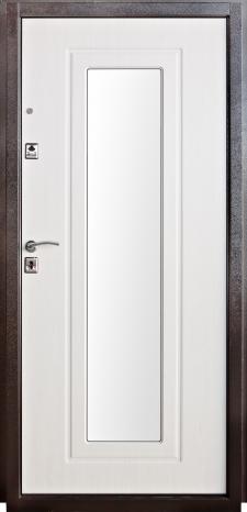 Входная металлическая дверь молоток МДФ ТМ «Белорусский стандарт»  БС-7  с зеркалом внутреняя сторона